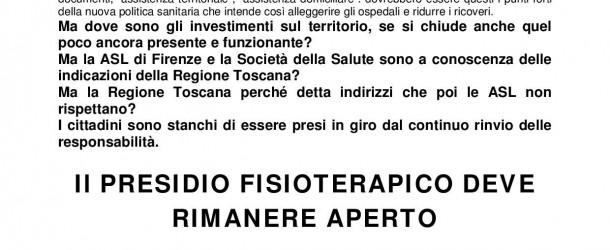 Il PRESIDIO FISIOTERAPICO DI PIAZZA ELIA DELLA COSTA DEVE RIMANERE APERTO
